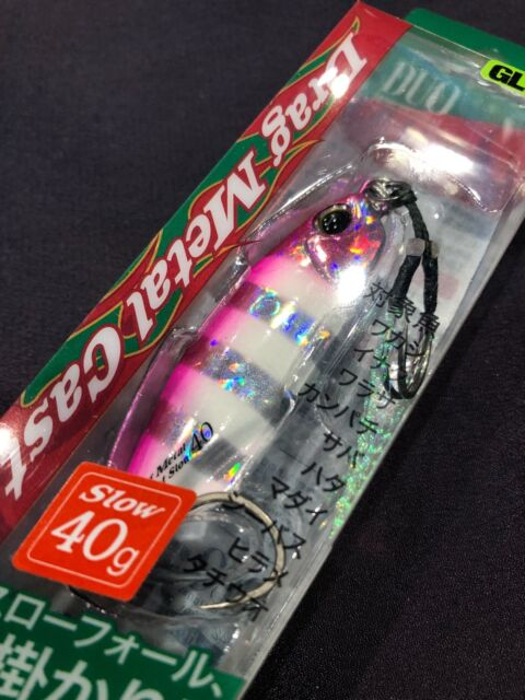 TOPLURE LUMINOUS SLOW PITCH SLOW FALL METAL JIGS WITH HOOKS FREE SHIPPING