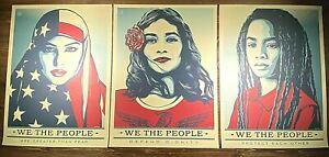 Shepard Fairey Art Print Poster WE THE PEOPLE SET Of 3 Prints 24X36 Obey Giant