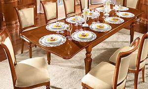 LUSSO Tavolo da sala da pranzo Torriani DAY NOCE impiallacciatura ...