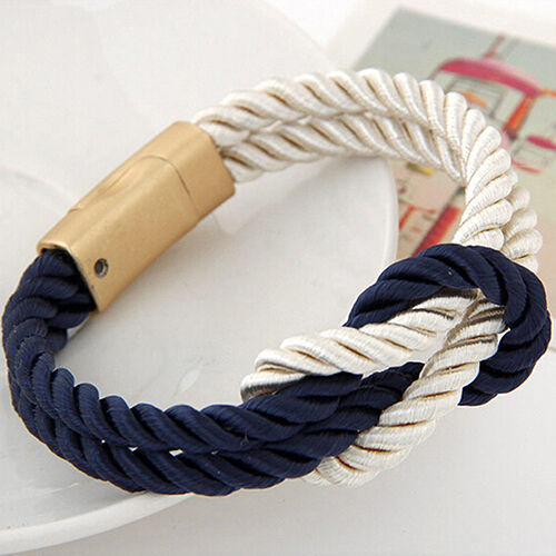 QA/_ Women Men/'s Braided Rope Chain Bracelet With Magnetic Clasp Bow Bangle Adv
