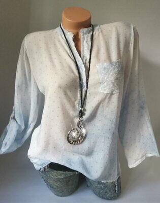 Pailletten Pünktchen Bluse Shirt Tunika Top Hemd Gepunktet*Rosa* S M L-36 38 40