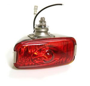 CLASSIC-CAR-RETRO-REAR-STAINLESS-RED-FOG-LAMP-LIGHT-12v-FORD-MINI-GLASS-Y3278
