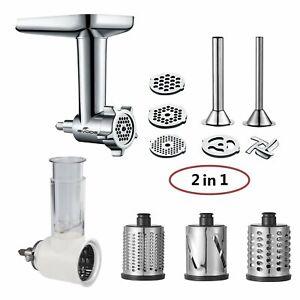 2-in-1-Food-Grinder-amp-Slicer-Shredder-Attachment-Pack-for-KitchenAid-Stand-mixe