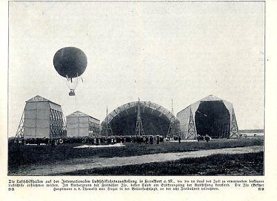 Von 1909 Pure Whiteness Luftfahrt & Zeppelin Freiballon Der Ila & Luftschiffhallen Auf Der Ila In Frankfurt A.m Bilder & Fotos