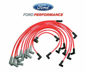 5.0L 5.8L Mustang Ford Racing 9MM Engine Spark Plug Ignition Wire Sets - Red