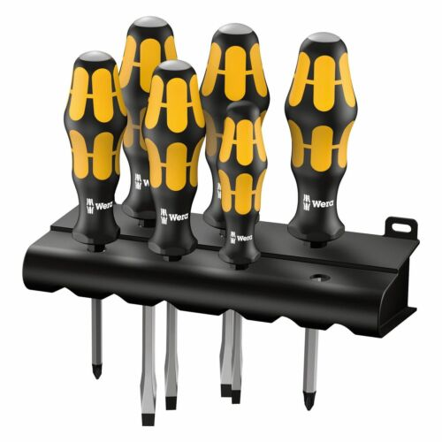 Wera Tool Kraftform 932/6 Chiseldriver Impact Head Screwdriver Set Phillips Flat