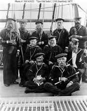 USS Hartford US Navy 'Ten Old Salts' 1877  Photo Reprint 7x5 inch
