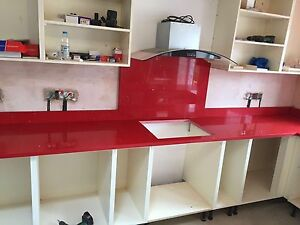 Image Is Loading Red Flecks Quartz Kitchen Worktop