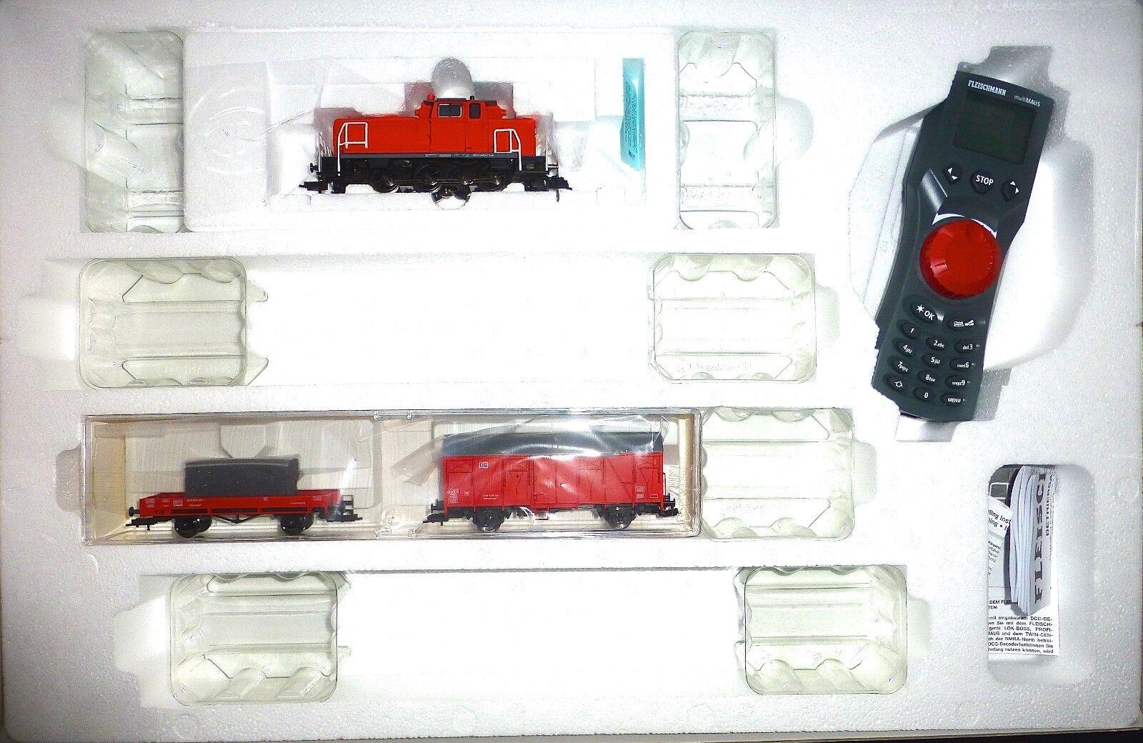 Treno +2 vagoni Multi mouse Fleischmann DIGITAL start set 631282 h0 1:87 µ *