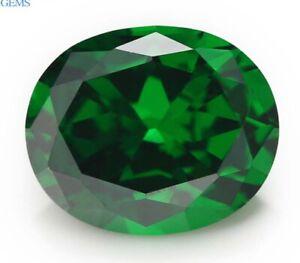 Unheated-10x12mm-7-22ct-Green-Natural-Emerald-Diamonds-Cut-Oval-VVS-Loose-Gems