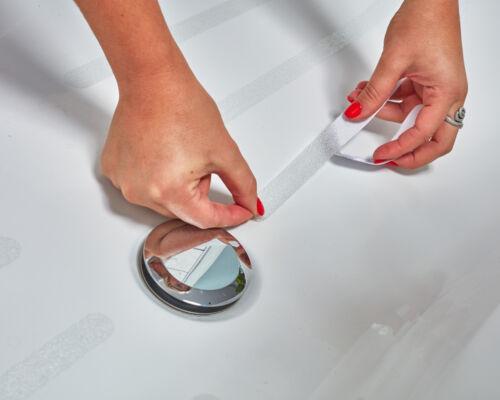 Antidérapant bandes pour douche et baignoire transparent auto-adhésif 8 pièces