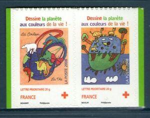 PAIRE-DE-TIMBRES-4306-4307-NEUF-XX-LUXE-CROIX-ROUGE-DE-2008