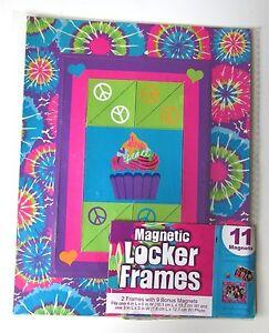 Magnetic Locker Fridge Frames Cupcake Love Peace Qty 2 4x6 3x5 Plus