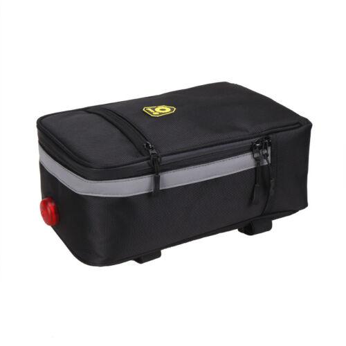 PVC Battery Case Storage Bag Rear Rack light for Electric Bicycle E-Bike Bike