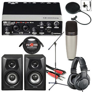 steinberg ur22mkii usb complete home recording studio songwriter bundle package ebay