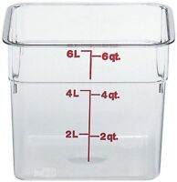Cambro 6sfscw135 Camsquare Food Container, 6-quart, Polycarbonate, Clear, Nsf, N on sale