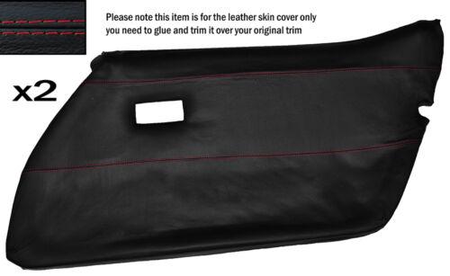 Red stitch 2x carte de porte avant pleine peau de cuir couvrir fits CORVETTE C3 78-82