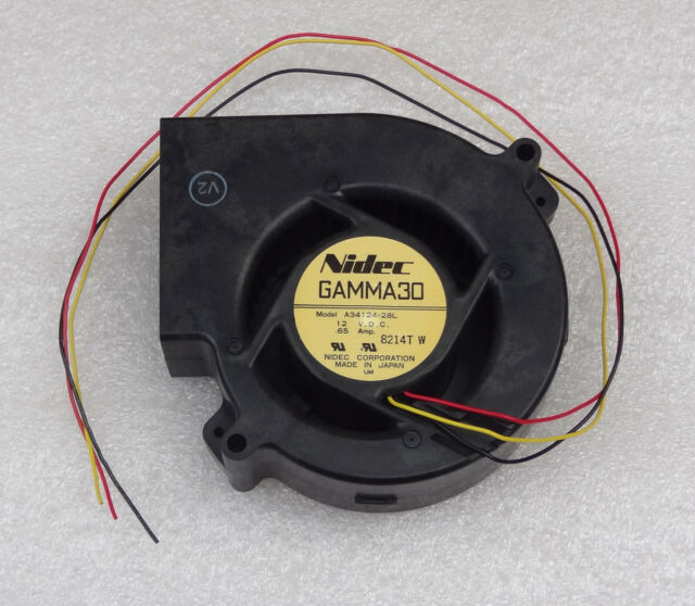Nidec Gamma30 12V Blower Fan 3 Wire No Connector A34124-28L Made In Japan