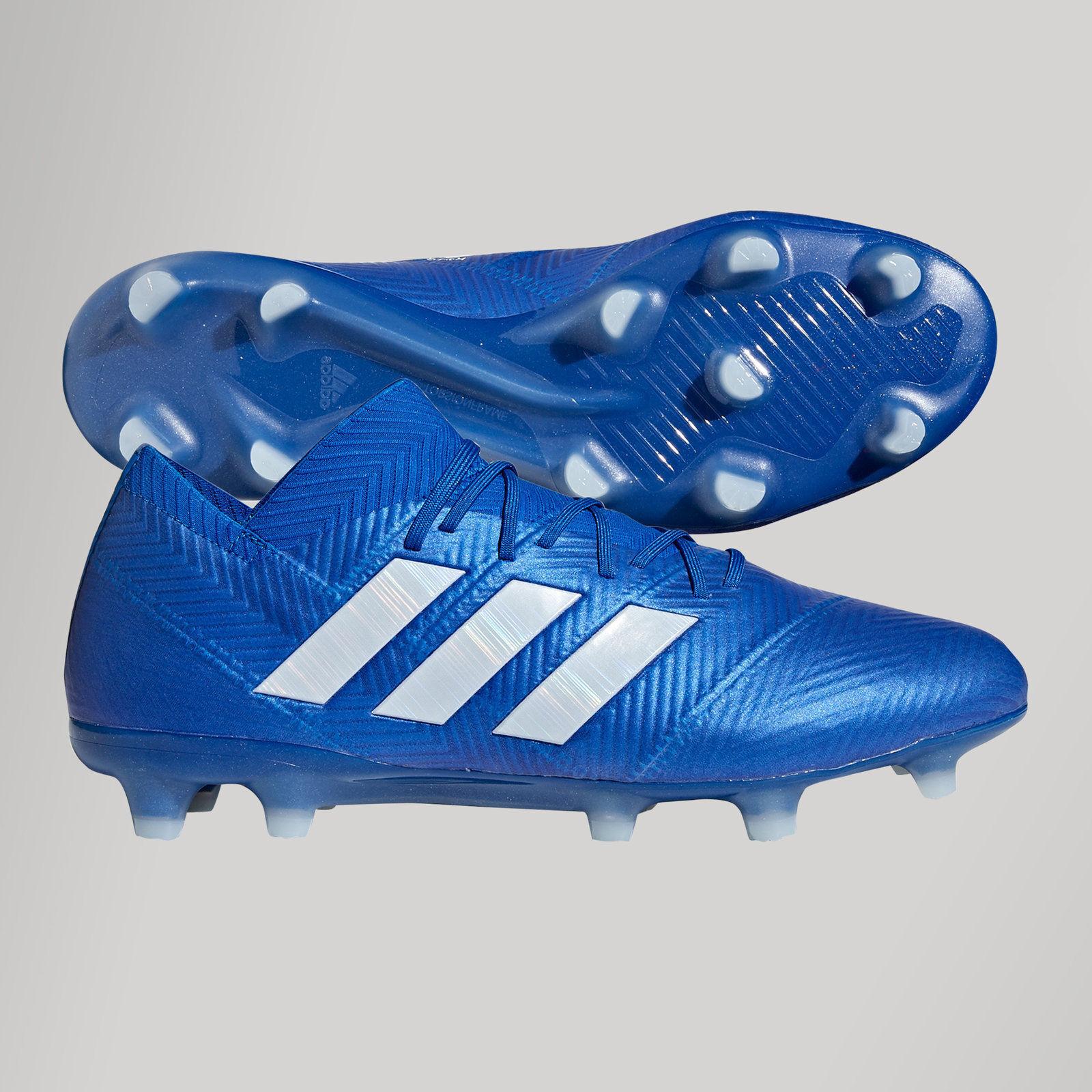 Adidas botas de fútbol nemeziz 18.1 FG BALONPÍE 8.5UK Tachuelas Zapatillas Messi Sports