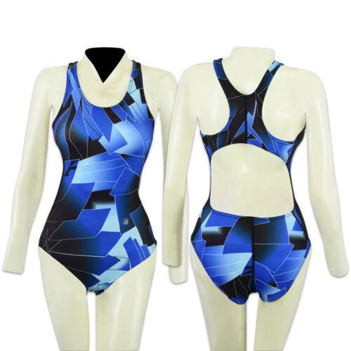 ACCLAIM Seychelles Ladies Girls Racer Back Swimming Costume St Tropez Print