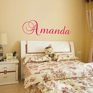 CUSTOM NAME VINYL WALL DECAL STICKER ART REMOVABLE WORDS HOME - Custom vinyl wall decal