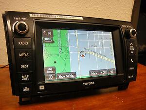 2013 2014 TOYOTA SEQUOIA JBL OEM GPS NAVIGATION SYSTEM 86107-0C021