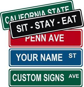 Personalized Street Signs >> Personalized Custom Street Signs 6 X 24 Aluminum Ebay