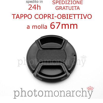 Coperchio Tappo copri obiettivo molla PRO diam 67mm 67