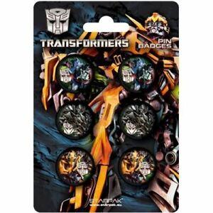 Transformers-Badge-Paquet-de-6-Securite-Broche-Renforce-Badges