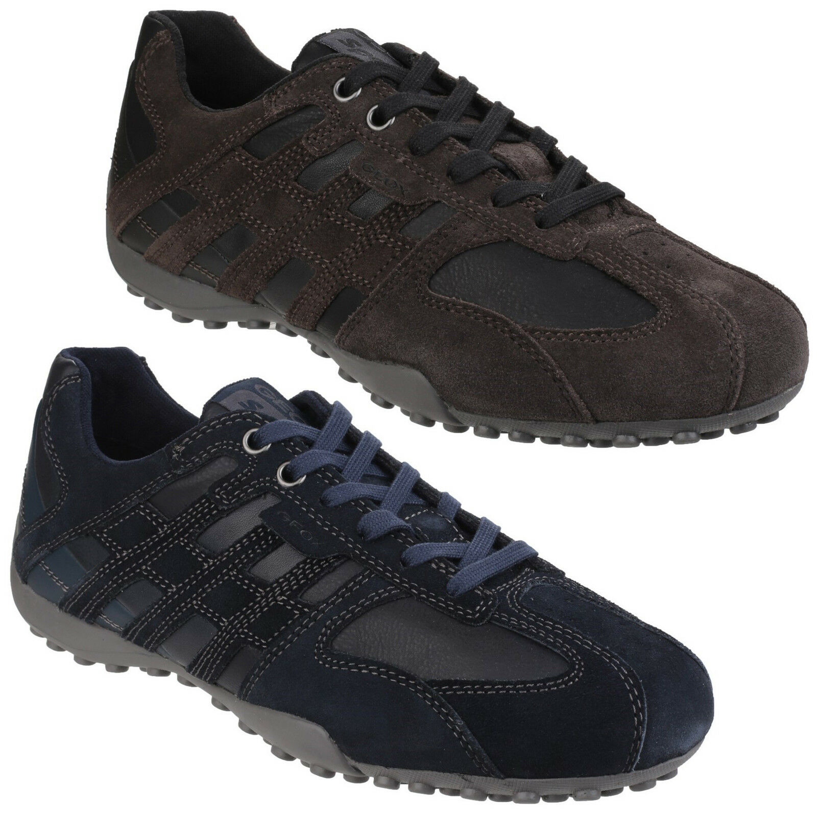 Geox Snake Trainers Mens cushioned Suede shoes Lace Up UK 6.5-10.5