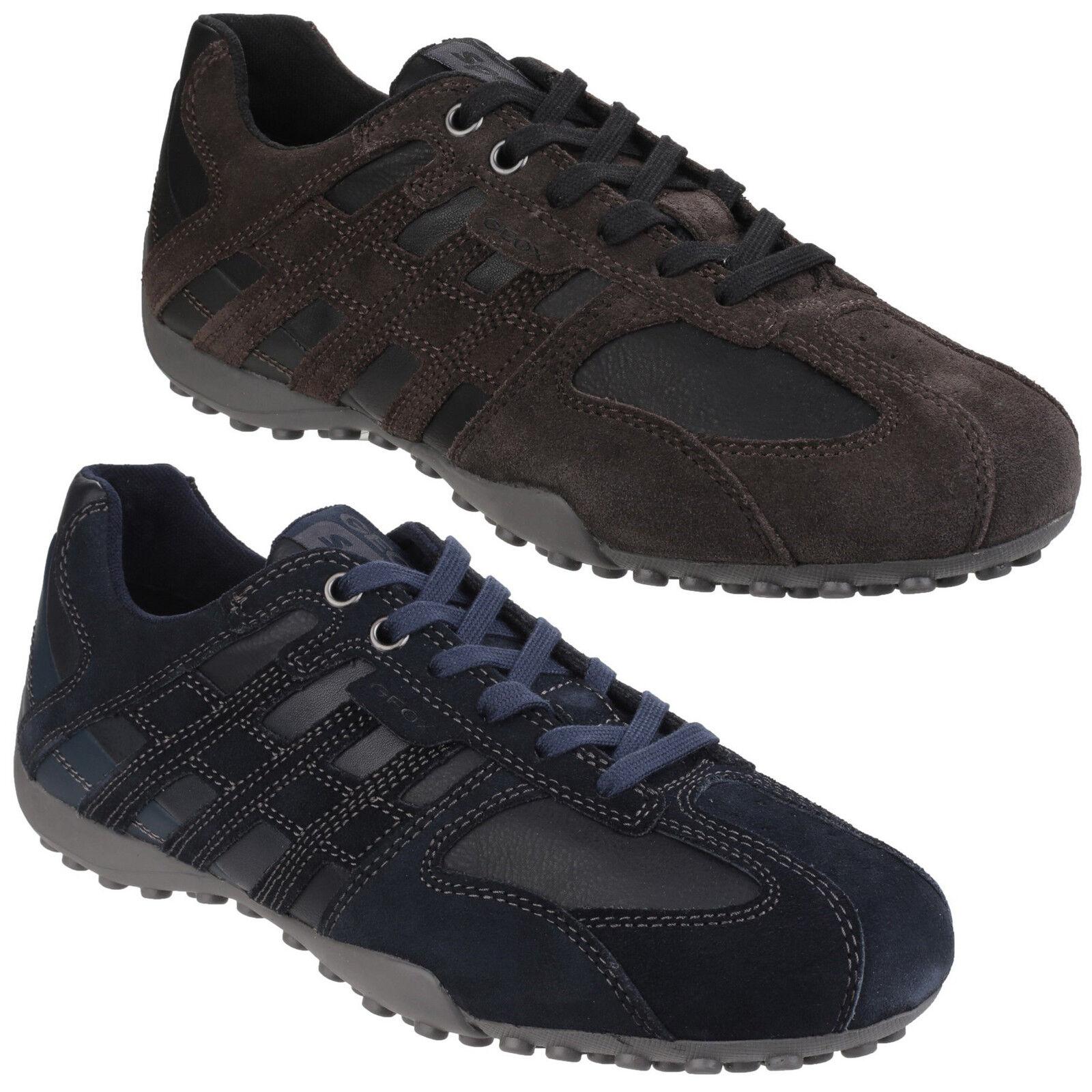 Geox Serpiente Zapatillas para Hombre Acolchada Zapatos de ante Cordones Gb
