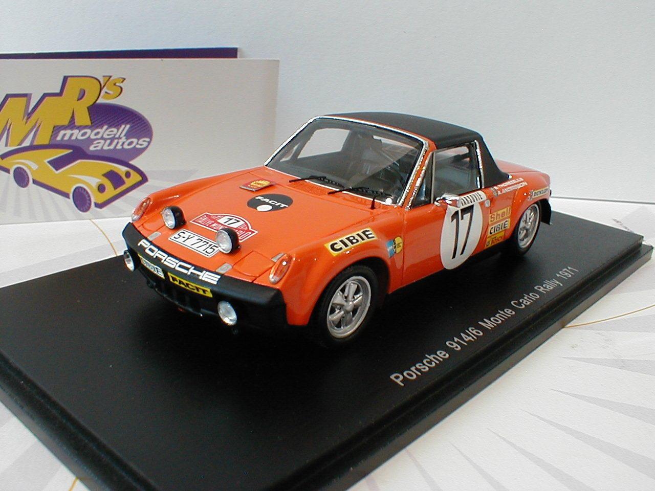 SPARK s5584-Porsche 914 6 nº 17 Monte Carlo Rally 1971  A. Andersson  1 43