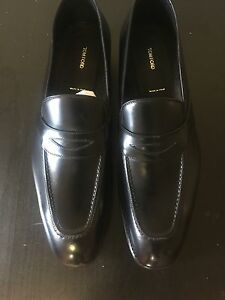 bf270191c4a Image is loading TOM-FORD-Charles-Leather-Penny-Loafer-Black-Size-