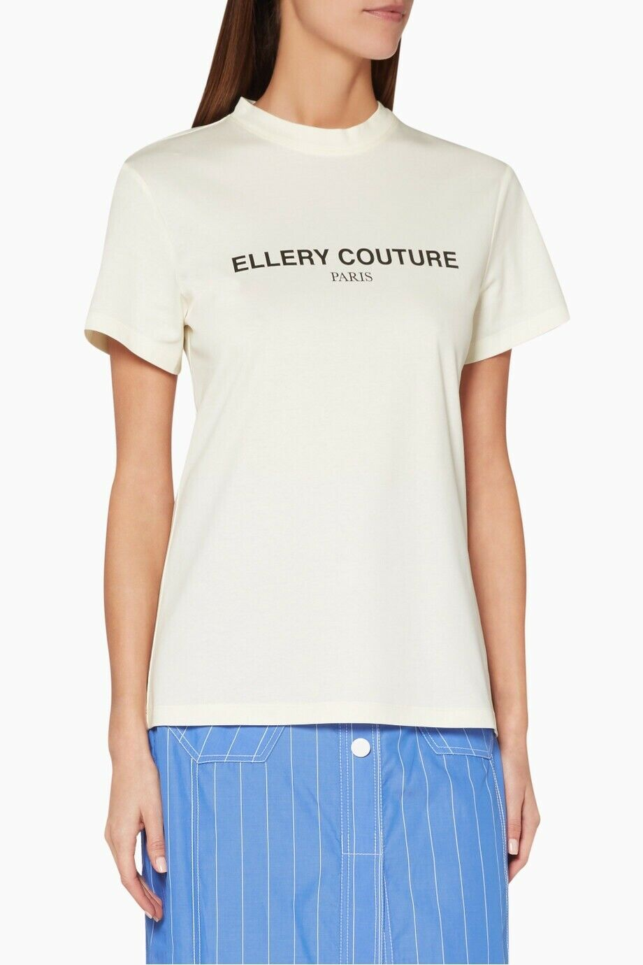 ELLERY‎  Ellery Couture Printed Cotton T-Shirt Size XS.
