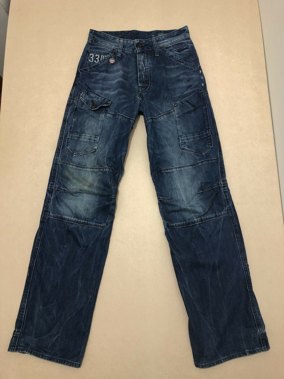 G STAR RAW JEANS MENS  28   32  GREAT COND   GENERAL 5620 LOOSE   DENIM PANTS