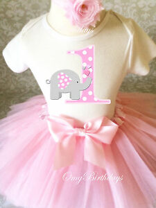 Image Is Loading Grey Pink Elephant Cute Baby Girl 1st First