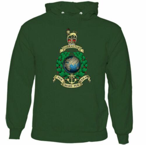 Mens Royal Marines Cap Badge Hoodie Commando Navy Elite British Forces Top