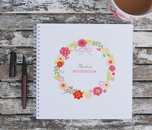 Image Is Loading Flower Wreath Notebook Birthday Gift Idea Mum Mother