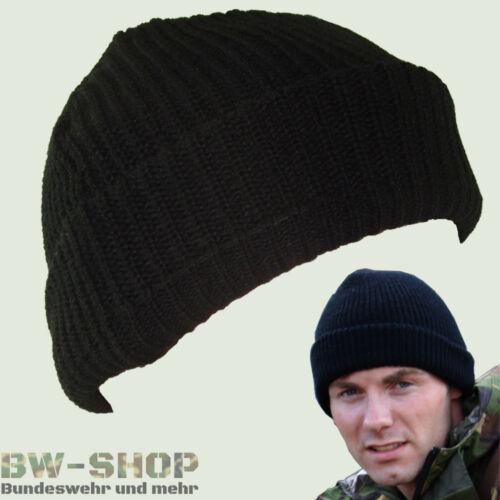 ORIGINALE esercito tedesco berretto a maglia con Vento Stopper BW Berretto Nero Inverno Berretto