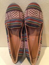RAMPAGE LENKA Multi Color TAPESTRY FABRIC Flats Loafers Shoe TRIBAL Sz 10M