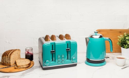 Haden Salcombe Kettle and 4 Slice Toaster Set with Wide Slots