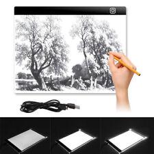 UK A4 Led Ultra Delgado De Arte Arte Dibujo Copia Rastreo Tatuaje Caja de luz Pad Board