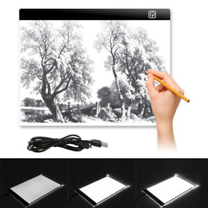 A3a4 Del Tracing Board Boîte à Lumière Pad Dessin Art Craft Peinture Tatouage Lightbox Pad-afficher Le Titre D'origine