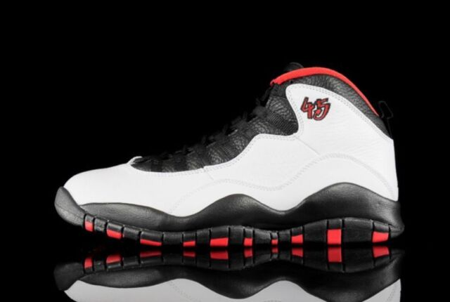 fff355e07d85 Nike Air Jordan X Retro Chicago 45 Double Nickel White black 310805-102 Men  S 10