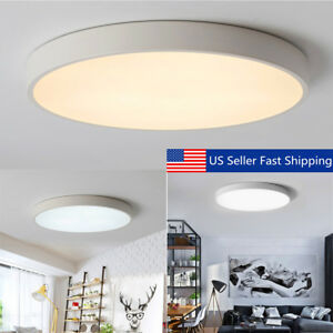 12 24w Large Led Ceiling Light Flush Mounted Living Room Kitchen