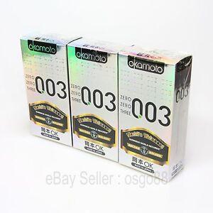 30p-Okamoto-003-0-03mm-Platinum-condom-Lubricant-Super-Ultra-THIN-condoms