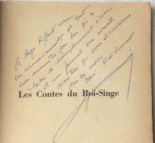 EO ENVOI dédicace 1958 André VOISIN LES CONTES DU ROI-SINGE / Roger Riffard