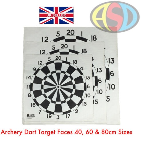 10 X Archery Dart Target Faces Suitable For Bows & Crossbows Heavy Gauge