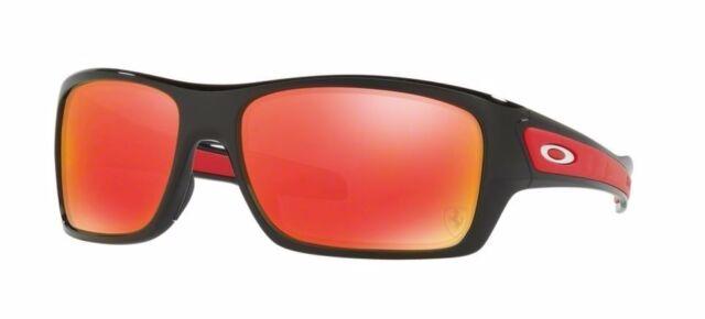 26314730ca Oakley Turbine Ferrari Polished Black Ruby Iridium Sunglasses Oo9263 ...