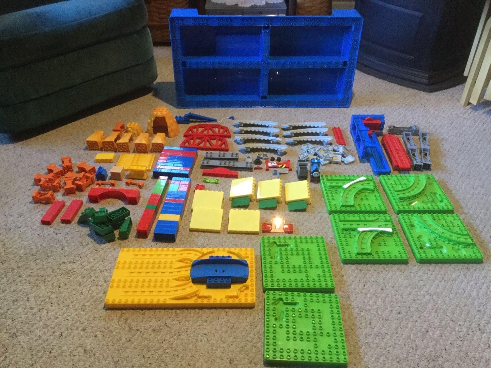 Pre Owned Thomas the Train Mega Blok Mountain Adventure Set in Huge Storage Box.
